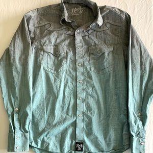 Rock 47 by Wrangler Men's Button Down Shirt Size M